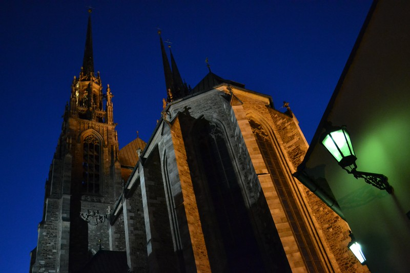 The Brno Cathedral at night