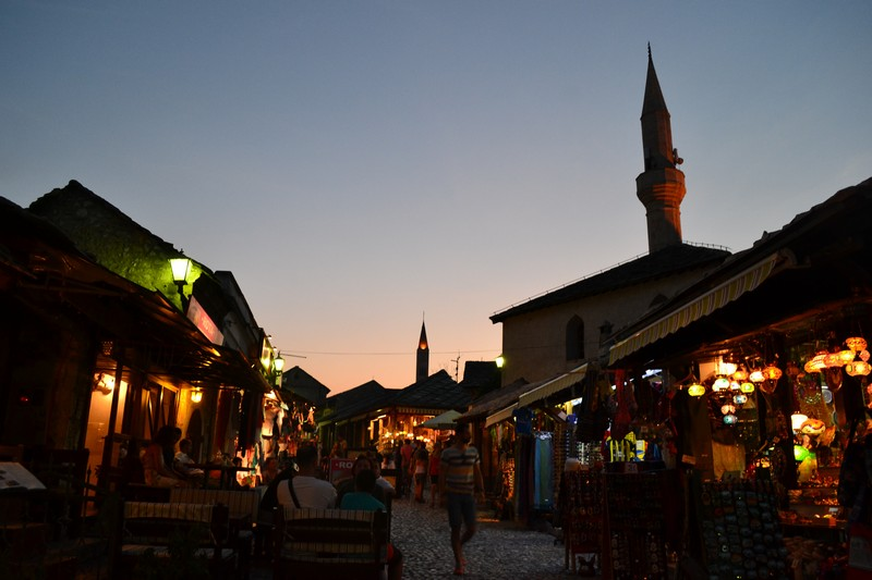 Mostar at Night, Bosnia