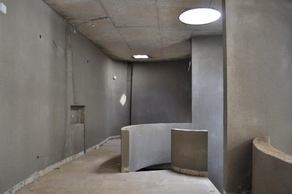 The Croatian monument's concrete interior