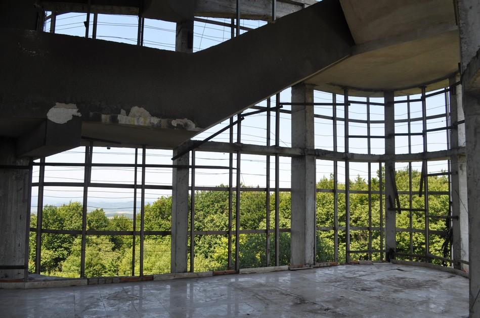 The monument's interior