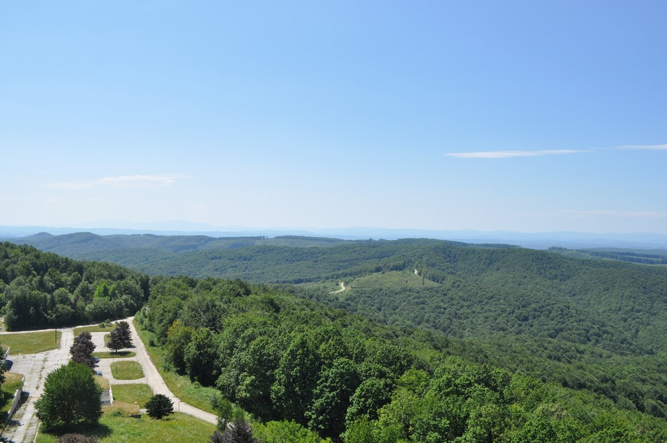 The view from Petrova Gora - Croatian monument