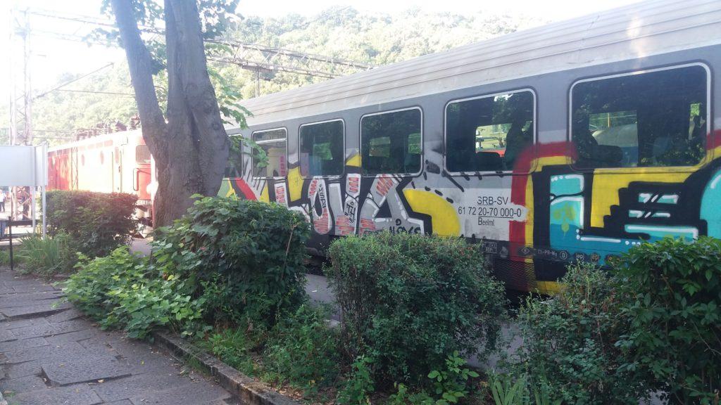 train carriage graffiti