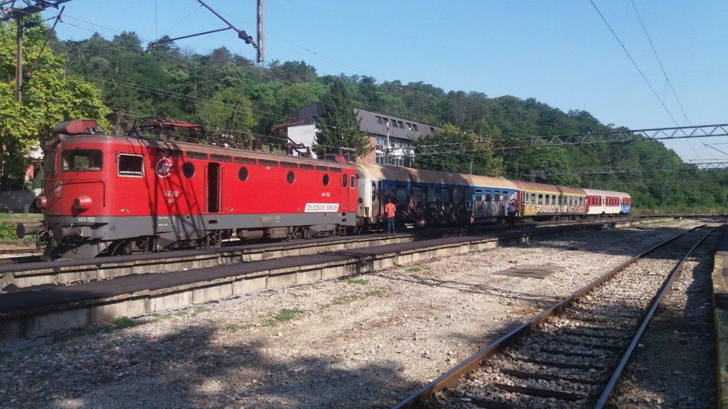 The Belgrade to Sofia train