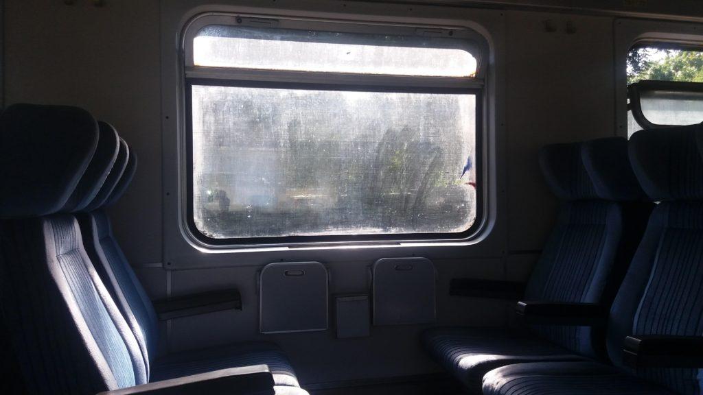 Seats in the train from Belgrade to Sofia