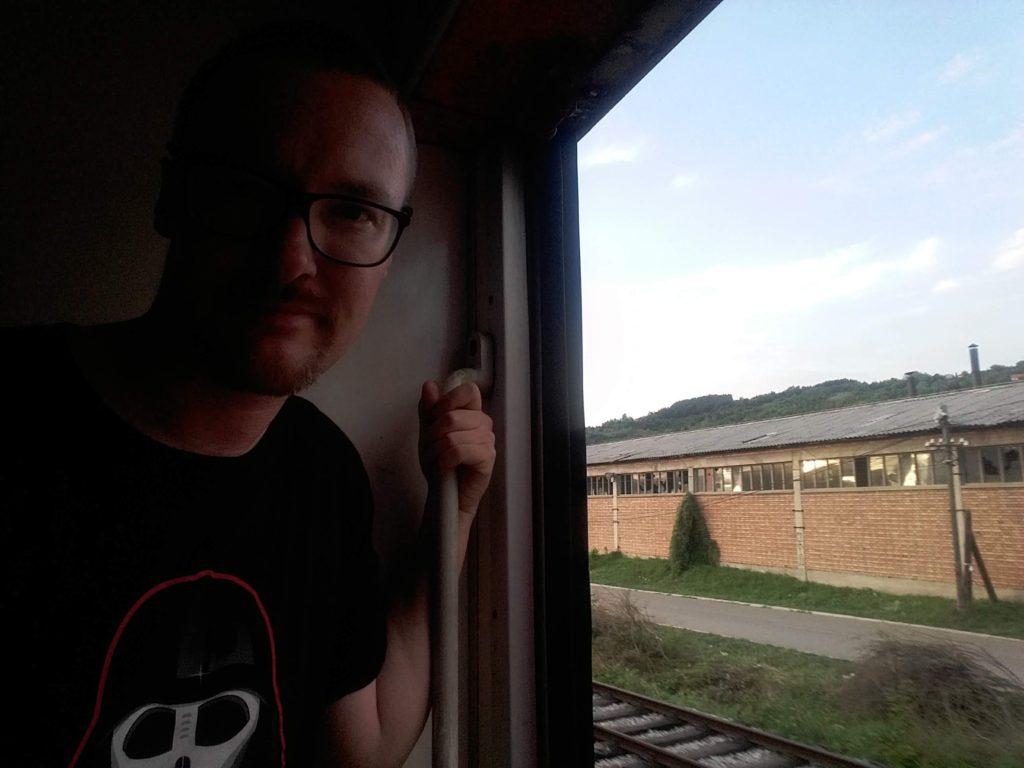 Man on the Belgrade to Sofia train